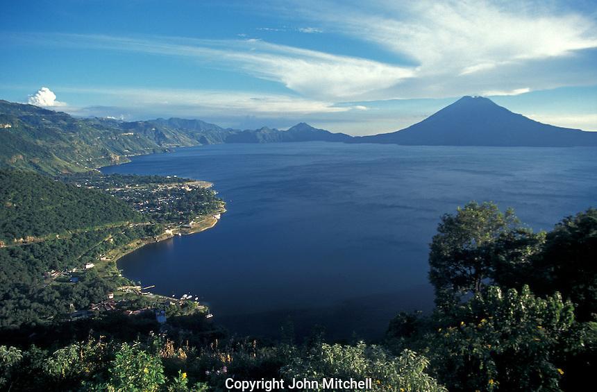 Lake Atitlan from above, Guatemala,