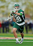 24 April 2012: Dartmouth College Big Green midfielder Thomas Mattimore, a Senior from Tiburon, CT, in action against the University of Vermont Catamounts at Virtue Field in Burlington, Vermont. The Big Green defeated the Catamounts 10-5 in Men's Varsity Lacrosse action. Mandatory Credit: Ed Wolfstein Photo
