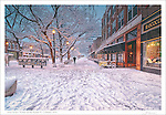 """The fourth print in a four part series entitled: """"Winter on the Square"""".  Please see the """"Fine Art   Artist Series"""" Gallery for the companion pieces."""
