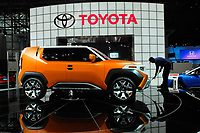 NEW YORK, NY - APRIL 12: Toyota FT-4X is displayed at the New York International Auto Show, at the Jacob K. Javits Convention Center on April 12, 2017 in Manhattan, New York. Photo by VIEWpress/Eduardo MunozAlvarez