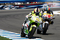 July 25, 2010 - Laguna Seca, USA - Tuenti Racing's Pol Espargaro powers his bike during U.S. Grand Prix held on July 25, 2010. (Photo Andrew Northcott/Nippon News)