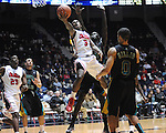 "Ole Miss' Derrick Millinghaus (3) vs. Coastal Carolina's El Hadji Ndieguene (11) at the C.M. ""Tad"" Smith Coliseum in Oxford, Miss. on Tuesday, November 13, 2012. Ole Miss won 90-72."