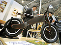 February 9, 2012, Tokyo, Japan - A bicycle made of bentwoods is shown in the Tokyo International Gift show at the Big Sight in Tokyo on Thursday, February 9, 2012. A total of 2,500 companies, including 220 from 22 foreign countries and regions, showcased three million amazing new products during the three-day exhibition. (Photo by Natsuki Sakai/AFLO) AYF -mis-