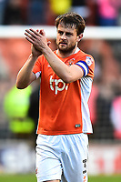 Blackpool's Andy Taylor applauds the fans at the end of the match<br /> <br /> Photographer Richard Martin-Roberts/CameraSport<br /> <br /> The EFL Sky Bet League Two Play-Off Semi Final First Leg - Blackpool v Luton Town - Sunday May 14th 2017 - Bloomfield Road - Blackpool<br /> <br /> World Copyright &copy; 2017 CameraSport. All rights reserved. 43 Linden Ave. Countesthorpe. Leicester. England. LE8 5PG - Tel: +44 (0) 116 277 4147 - admin@camerasport.com - www.camerasport.com