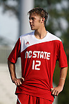 04 September 2009: NC State's Tyler Lassiter. The North Carolina State University Wolfpack defeated the University of Denver Pioneers 4-0 at Koskinen Stadium in Durham, North Carolina in an NCAA Division I Men's college soccer game.
