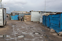 South Africa, Cape Town.  A Guguletu Township Street.