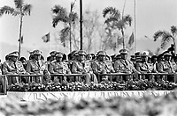 Burma's generals attend Armed Forces Day. Known as the State Peace and Development Council (SPDC), the military junta has ruled Burma for 45 years since 1962.