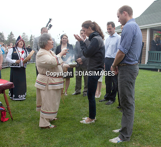 """PRINCE WILLIAM & KATE.take part in a Smudging Ceremony by the Mi'Kmaq Tribe,  Dalvey Lake, Dalvey-by-Sea, Prince Edward Island_04/07/2011.Mandatory Credit Photo: ©DIASIMAGES..**ALL FEES PAYABLE TO: """"NEWSPIX INTERNATIONAL""""**.No UK Sales usage until 01/08/2011.IMMEDIATE CONFIRMATION OF USAGE REQUIRED:.DiasImages, 31a Chinnery Hill, Bishop's Stortford, ENGLAND CM23 3PS.Tel:+441279 324672  ; Fax: +441279656877.Mobile:  07775681153.e-mail: info@newspixinternational.co.uk"""