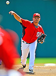 7 March 2011: Washington Nationals' pitcher Yunesky Maya in action during a Spring Training game against the Houston Astros at Space Coast Stadium in Viera, Florida. The Nationals defeated the Astros 14-9 in Grapefruit League action. Mandatory Credit: Ed Wolfstein Photo