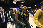 MILWAUKEE, WI - MARCH 16:  Vermont Catamounts players exit the court following their loss to Purdue during the 2017 NCAA Men's Basketball Tournament held at BMO Harris Bradley Center on March 16, 2017 in Milwaukee, Wisconsin. (Photo by Jamie Schwaberow/NCAA Photos via Getty Images)