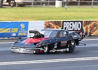 Jun 11, 2016; Englishtown, NJ, USA; NHRA pro mod driver Gerry Capano during qualifying for the Summernationals at Old Bridge Township Raceway Park. Mandatory Credit: Mark J. Rebilas-USA TODAY Sports