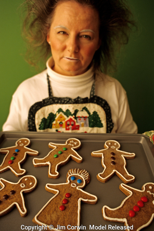 Christmas Cookies Frazzled Woman