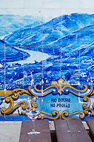azulejos at train station pinhao douro portugal