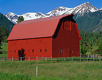 Wallowa County, OR   <br /> The Buckles Barn near Hurricane Creek in the Wallowa Valley under the Wallowa Mountains