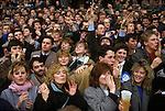 Varsity rugby union game Oxford v Cambridge University Twickenham London England. Circa 1985
