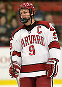 Danny Biega (Harvard - 9) - The Harvard University Crimson defeated the visiting Bentley University Falcons 5-0 on Saturday, October 27, 2012, at Bright Hockey Center in Boston, Massachusetts.