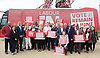 Labour IN campaign bus visits the Queen Elizabeth Olympic Park Stratford, London with Alan Johnson MP chair of the Labour in for Britain campaign to set out what impact leaving the European Union would have on the UK tourism sector.<br />  <br /> 29th May 2016 <br /> <br /> Alan Johnson <br /> <br /> with Lee Shinkin - Judo Bronze medalist in Commonwealth Games<br /> <br /> Stephen Timms MP <br /> East Ham <br /> <br /> Iain McNicol <br /> General Secretary of the Labour Party <br /> <br /> Sir Robin Wales mayor of Newham <br /> and party activists <br /> <br /> Photograph by Elliott Franks <br /> Image licensed to Elliott Franks Photography Services