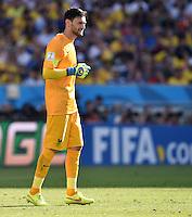 FUSSBALL WM 2014                VIERTELFINALE Frankreich - Deutschland           04.07.2014 Torwart Hugo Lloris (Frankreich)
