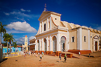Plaza Mayor with Church of the Holy Trinity and Brunet Palace in Trinidad, Cuba