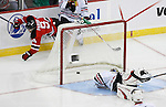 Mar 17, 2009; Newark, NJ, USA; New Jersey Devils right wing Jamie Langenbrunner (15) scores a goal during the first period at the Prudential Center.