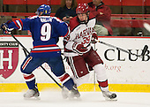 Terrence Wallin (UML - 9), Brian Hart (Harvard - 39)p - The visiting University of Massachusetts Lowell River Hawks defeated the Harvard University Crimson 5-0 on Monday, December 10, 2012, at Bright Hockey Center in Cambridge, Massachusetts.