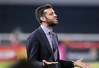 D.C. United coach Ben Olsen. D.C. United defeated Real Salt Lake 4-0 at RFK Stadium, Saturday September 24 , 2011.