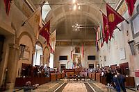 Roma, 13 Giugno 2012.Consiglio comunale in Campidoglio nell'aula Giulio Cesare per  la discussione sulla  cessione del 21% della controllata Acea, l'azienda che si occupa di acqua e servizi.