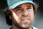 24 April 2007:  Oakland Athletics designated hitter Mike Piazza stands in the dugout prior to the game against the Baltimore Orioles.  The A's defeated the Orioles 4-2 at Camden Yards in Baltimore, MD to complete a 2 game sweep.