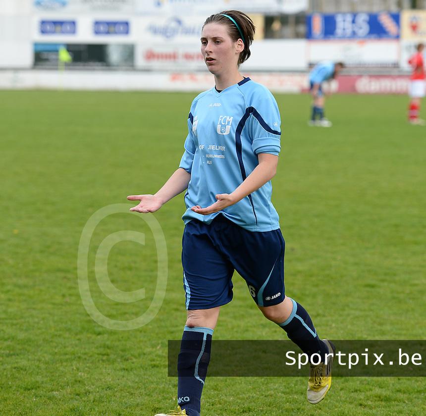 Finale Beker van West-Vlaanderen Dames : FC Menen United - KEG Gistel : Davina Wullaert <br /> foto VDB / BART VANDENBROUCKE