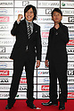 TOKYO - MAY 29: Licence members Kazuhiro Fujiwara (L) and Takafumi Inomoto arrive at the red carpet of the World Stage MTVJ 2010 show, May 29, 2010 at Yoyogi National Stadium in Tokyo, Japan.