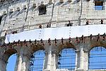 Vigili del fuoco al Colosseo per 2 Giugno