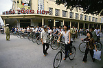Rush hour traffic in Hanoi, North Vietnam.  (Jim Bryant Photo)).....