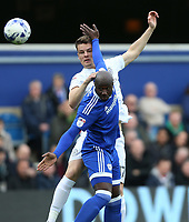 Queens Park Rangers' Matt Smith and Cardiff City's Sol Bamba<br /> <br /> Photographer /Rob NewellCameraSport<br /> <br /> The EFL Sky Bet Championship - Queens Park Rangers v Cardiff City - Saturday 4th March 2017 - Loftus Road - London<br /> <br /> World Copyright &copy; 2017 CameraSport. All rights reserved. 43 Linden Ave. Countesthorpe. Leicester. England. LE8 5PG - Tel: +44 (0) 116 277 4147 - admin@camerasport.com - www.camerasport.com
