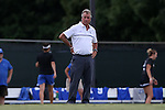 19 August 2016: Duke head coach Robbie Church. The Duke University Blue Devils played the Wofford College Terriers in a 2016 NCAA Division I Women's Soccer match. Duke won the game 9-1.