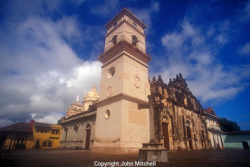 La Merced Church in the Spanish colonial city of Granada, Nicaragua