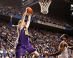 LSU center Andrew Del Piero attempts a shot but UK forward Nerlens Noel steals it during the first half of the men's basketball game vs. LSU at Rupp Arena, in Lexington, Ky., on Saturday, January 26, 2013. Photo by Genevieve Adams  | Staff.