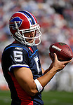 30 September 2007: Buffalo Bills rookie quarterback Trent Edwards, a third-round pick out of Stanford, warms up prior to facing the New York Jets at Ralph Wilson Stadium in Orchard Park, NY. The Bills defeated the Jets 17-14 for their first win of the 2007 season...Mandatory Photo Credit: Ed Wolfstein Photo