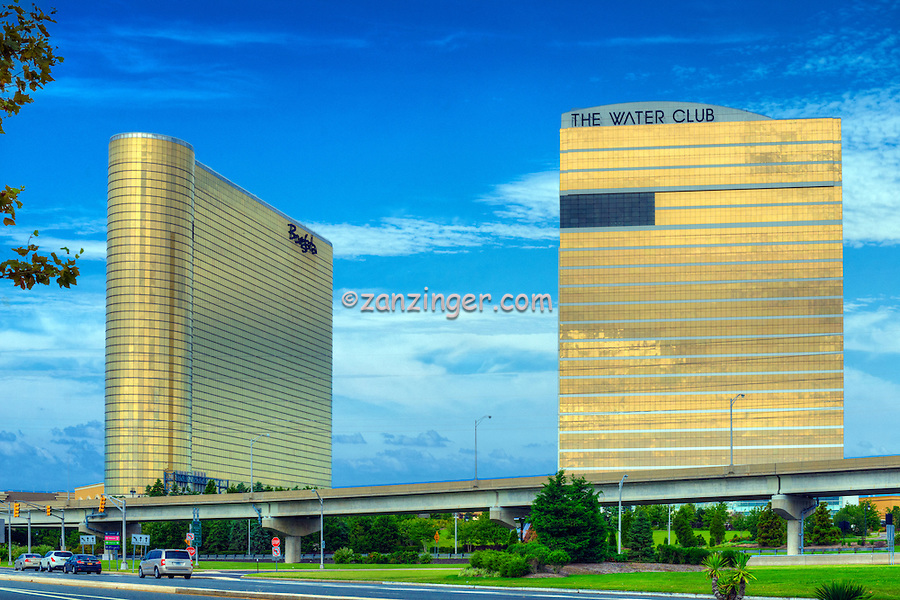 Borgata Hotel Casino, The Water Club 3, Atlantic City World-famous Boardwalk, Sand, Resort hotels,  Architecture;  New Jersey; Seaside Resort;