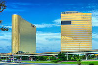 Borgata Hotel Casino, The Water Club 3, Atlantic City World-famous Boardwalk, Sand, Resort hotels,  Architecture;  New Jersey; Seaside Resort;