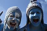 30 November 2013: UNC fans. The University of North Carolina Tar Heels played the Duke University Blue Devils at Keenan Memorial Stadium in Chapel Hill, NC in a 2013 NCAA Division I Football game. Duke won the game 27-25.