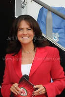 TV presenter Francis Donovan during the homecoming celebrations at the Cardiff City stadium on Friday 8th July 2016 for the Euro 2016 Wales International football squad.<br /> <br /> <br /> Jeff Thomas Photography -  www.jaypics.photoshelter.com - <br /> e-mail swansea1001@hotmail.co.uk -<br /> Mob: 07837 386244 -