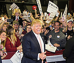VALDOSTA, GA- FEBRUARY 29: Republican presidential candidate Donald Trump speaks to supporters after a rally at Valdosta State University February 29, 2016 in Valdosta, Georgia. On the eve of the Super Tuesday primaries, Trump is enjoying his best national polling numbers of the election cycle, increasing his lead over rivals Sens. Marco Rubio (R-FL) and Ted Cruz (R-TX).  (Photo by Mark Wallheiser/Getty Images)