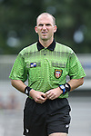 07 September 2014: Referee Ted Unkel. The Duke University Blue Devils hosted the Penn State University Nittany Lions at Koskinen Stadium in Durham, North Carolina in a 2014 NCAA Division I Women's Soccer match. PSU won the game 4-3.