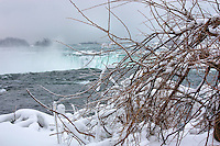 Winter view at the Canadian falls