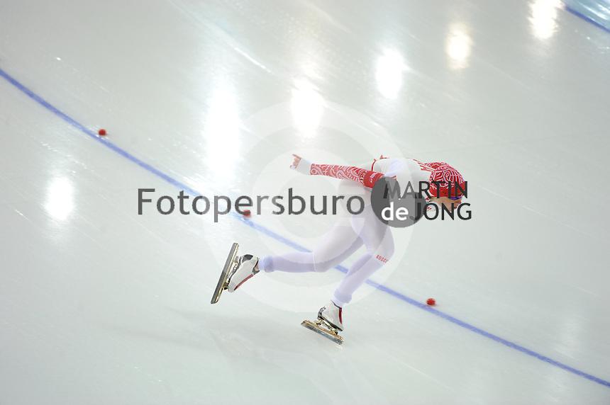 OLYMPICS: SOCHI: Adler Arena, 13-02-2014, 1000m Ladies, Olga Fatkulina (RUS), ©foto Martin de Jong