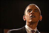 US Senator and Democratic Presidential candidate Barack Obama celebrated his 46th birthday at Atlanta's Marriott Marquis, August 4, 2007.  He spoke at the Southern Christian Leadership Conference's (SCLC) First Ladies Awards Celebration.