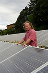 Eric Lemelson standing next to his solor panels at his winery