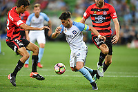 Melbourne, 6 January 2017 - BRUNO FORNAROLI (23) of Melbourne City controls the ball in the round 14 match of the A-League between Melbourne City and Western Sydney Wanderers at AAMI Park, Melbourne, Australia. Melbourne won 1-0 (Photo Sydney Low / sydlow.com)