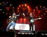 Grammy winning US Country and Western superstars Brooks & Dunn in concert at Rod Laver Arena, Melbourne, 4 May 2009
