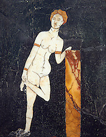Opus Sectile Roman Venus loosing a sandal, Pompeii, inv 2109678 , Naples National Archaeological Museum